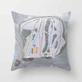 Soda Springs Resort Trail Map Throw Pillow
