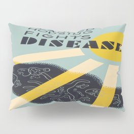 Vintage poster - Planned Housing Fights Disease Pillow Sham