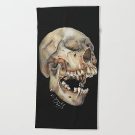 Open Mouth Skull Beach Towel
