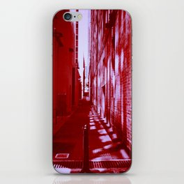 Red Alley Reflections iPhone Skin