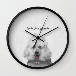 Cute Poodle Art Wall Clock