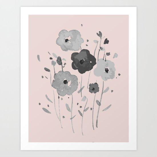 Whimsical spring bloom Art Print