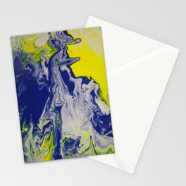 Marble Earth Pour Deux Stationery Cards