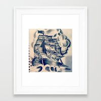 pirate ship Framed Art Prints featuring Pirate Ship by Meloydg