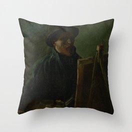 Self-Portrait as a Painter Throw Pillow