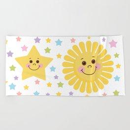 Sun and Moon Beach Towel