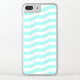 mint chevron 3d Clear iPhone Case