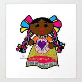 Muñequita Magic Art Print