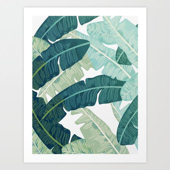 Tropical oasis Art Print