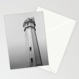 Alcatraz Lighthouse (Black and White Version) Stationery Cards