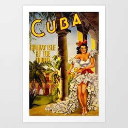 Cuba Holiday Isle of the Tropics Art Print