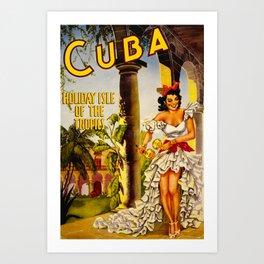 Cuba Holiday Isle of the Tropics Art Print