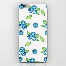 Blueberry Watercolour Pattern iPhone Skin