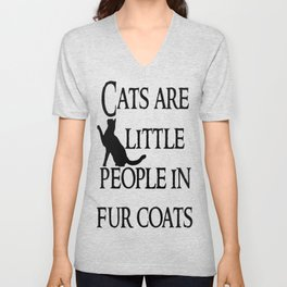 Cats are little people... Unisex V-Neck