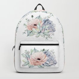 Pretty Succulents by Nature Magick Backpack