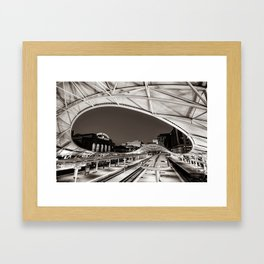 Denver Union Station - 1914 Beaux-Arts Train Station - Sepia Framed Art Print
