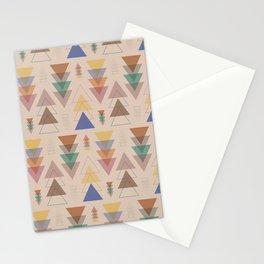 Minimalist Geometric Pendants in Earthtone Stationery Cards