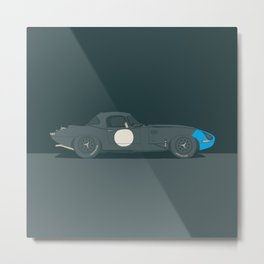 Ecurie E-Type Lightweight – Blue Series Metal Print