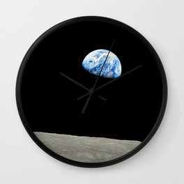 Earthrise High Resolution Wall Clock