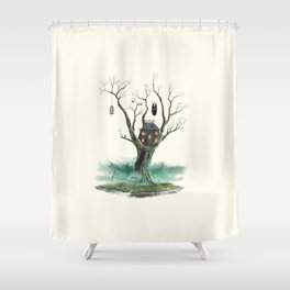 Treehouse of Horror Shower Curtain