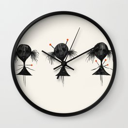 Triplets Wall Clock