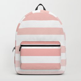 Pink and White Ombre Stripe Backpack