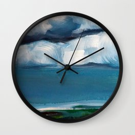 Landscape with clouds Wall Clock