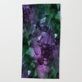 Crystal Geode Beach Towel