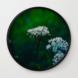 White Floral Baby Breath Flower Wall Clock