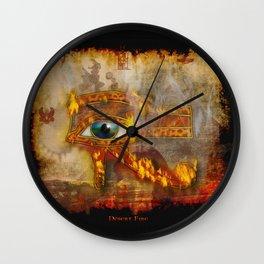 Desert Fire - Eye of Horus Wall Clock