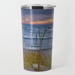 Sunset Photograph of a Dune with Beach Grass at Holland Michigan No 0199 Travel Mug
