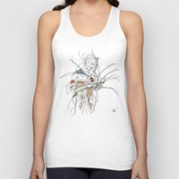 erotic Tank Tops featuring Reading The Erotic by Hal Nymen