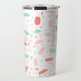 Abstract minimal dots polka dots painted sprinkles trendy modern color palette Travel Mug
