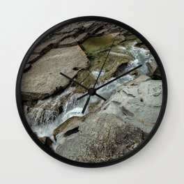 Cutting Through - Glacier NP Wall Clock