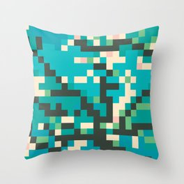 Pixelossom Throw Pillow