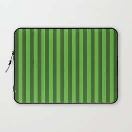 Green Stripes Pattern Laptop Sleeve