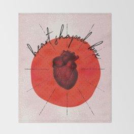.heart shaped box. Throw Blanket