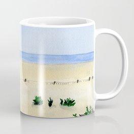 Assateague Island Watercolor Beach Painting Coffee Mug