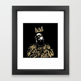Brooklyn's King Framed Art Print