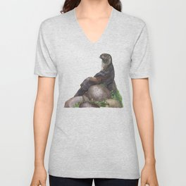 The Majestic Otter Unisex V-Neck