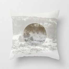Snowing Forest Throw Pillow