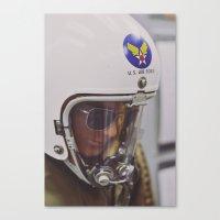 top gun Canvas Prints featuring Top Gun Test Pilot. by Pamela Steiner