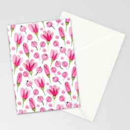 Pink flowers Nature Stationery Cards