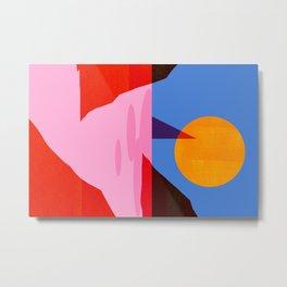 Abstraction_MOONLIGHT_Sailing_Minimalism_001 Metal Print