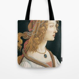 Sandro Botticelli - Idealized Portrait of a Lady Tote Bag