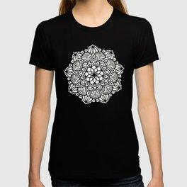 Seashell Mandala Coral Pink and White by Nature Magick T-shirt