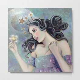 Asteria - Goddess of Stars Metal Print