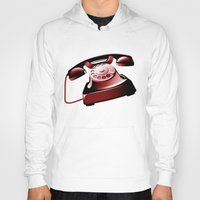 telephone Hoodies featuring TELEPHONE by Ylenia Pizzetti