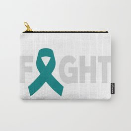 Fight Ovarian Cancer. Cancer gift. Cancer survivor gift. Breast cancer Carry-All Pouch