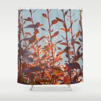 serenity Shower Curtains featuring serenity by Françoise Reina